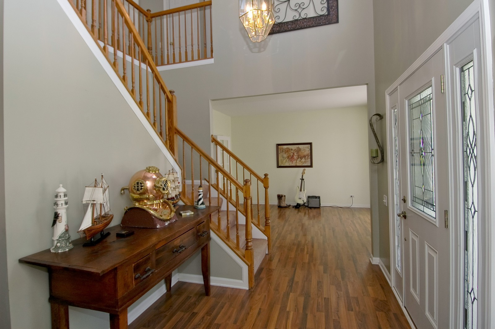 Real Estate Photography - 205 Lake, Algonquin, IL, 60102 - Foyer/Living Room