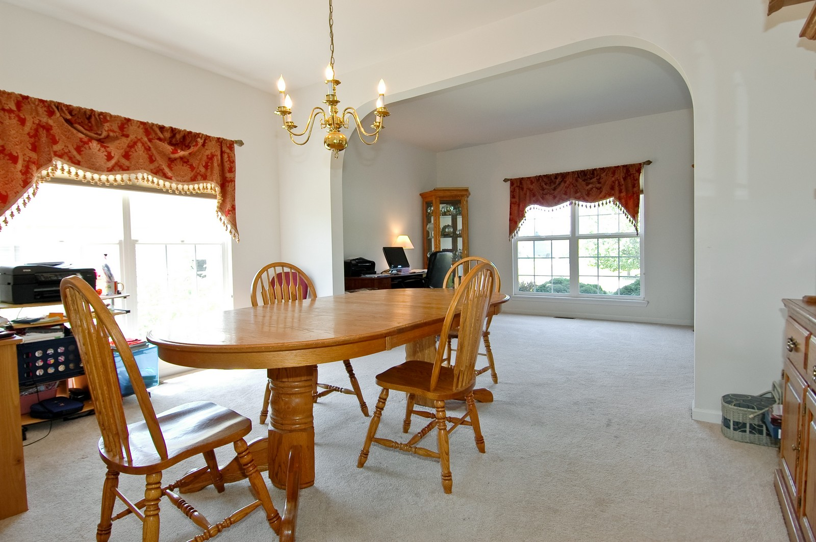 Real Estate Photography - 1211 Fieldstone, Crystal Lake, IL, 60014 - Living Room / Dining Room