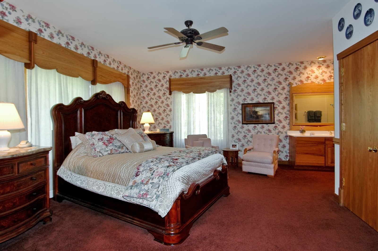 Real Estate Photography - 9004 Wildrose, Marengo, IL, 60152 - Master Bedroom