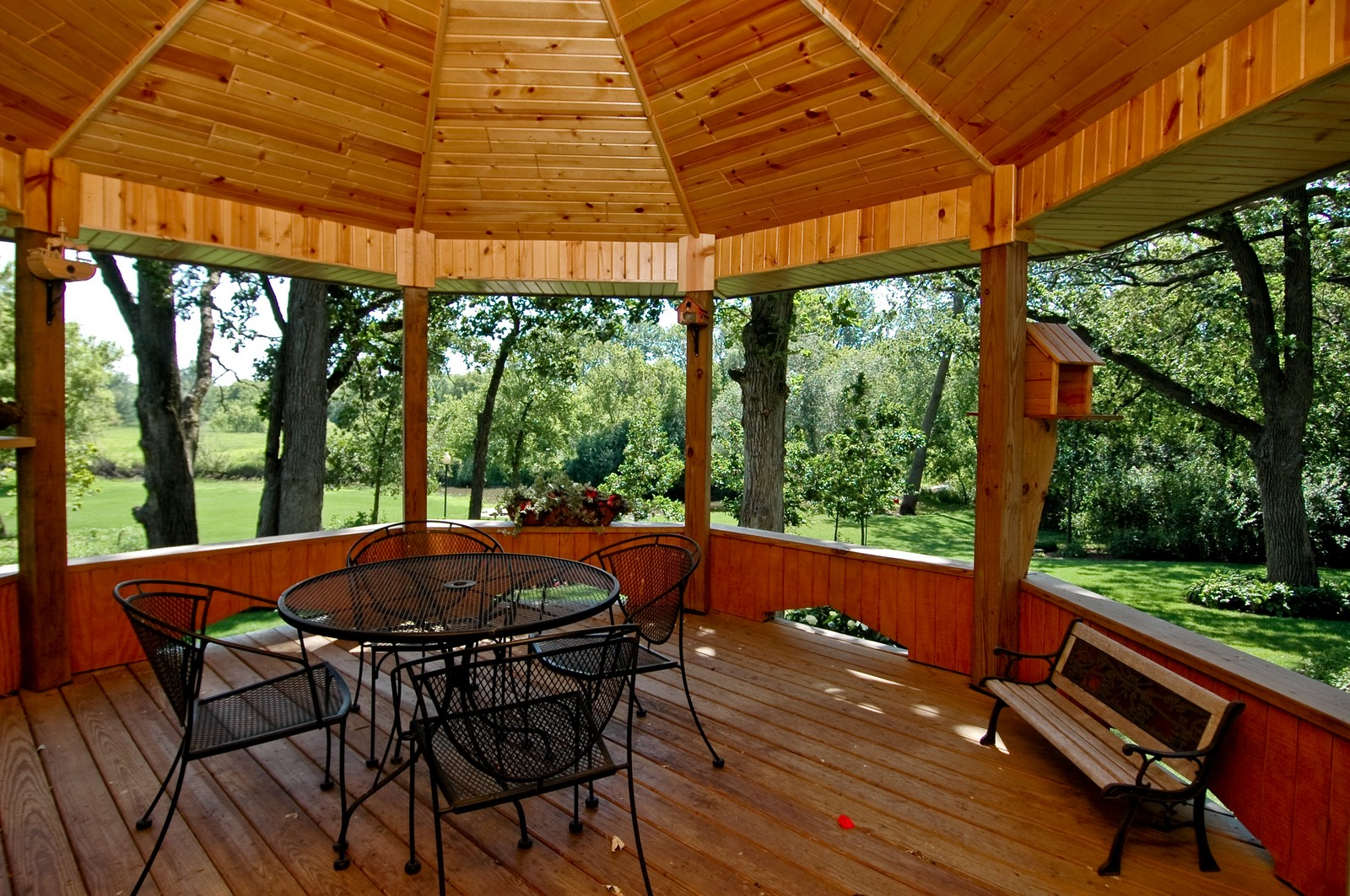 Real Estate Photography - 9004 Wildrose, Marengo, IL, 60152 - Gazebo