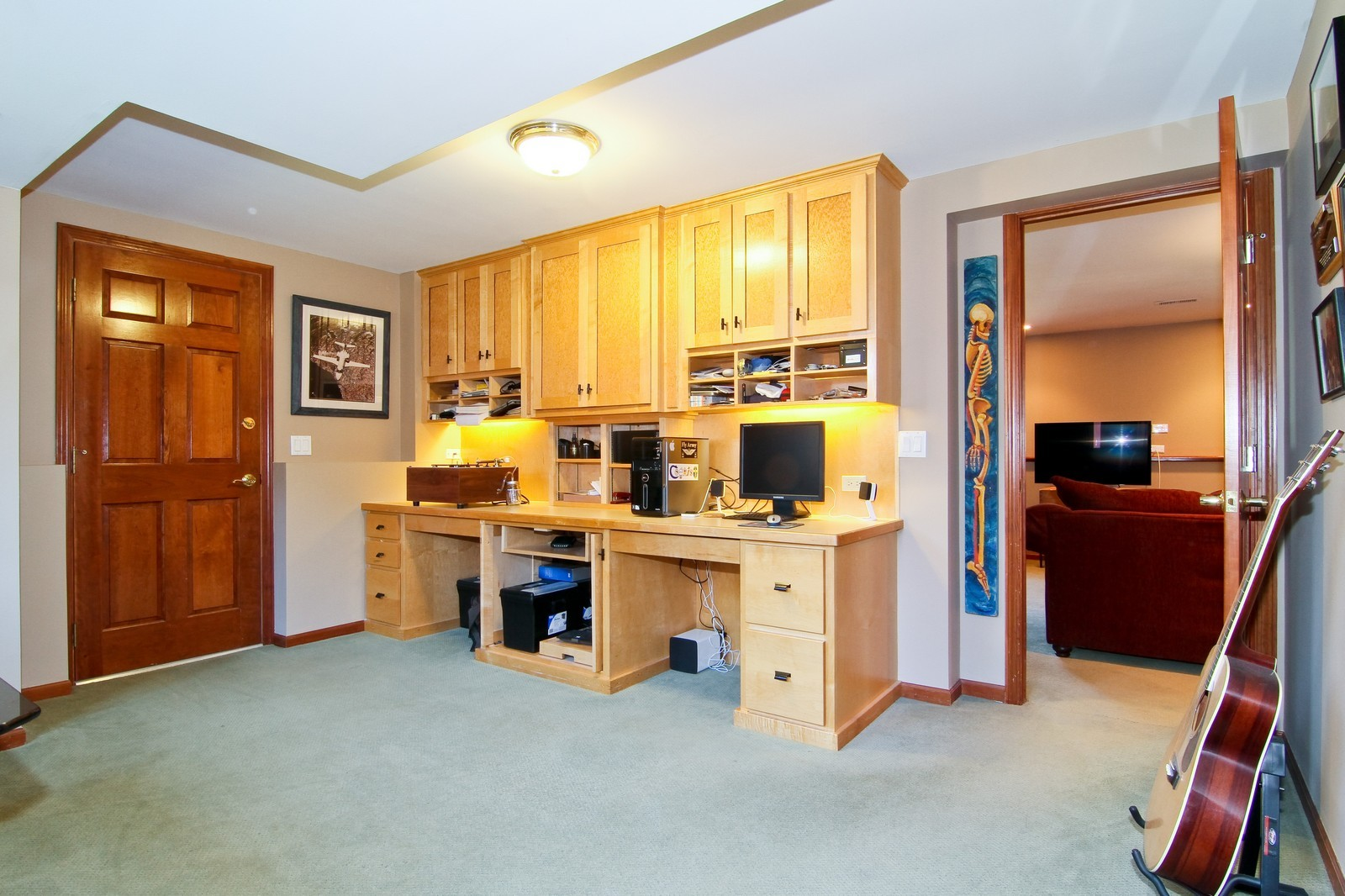 Real Estate Photography - 1130 Howard, St Charles, IL, 60174 - Den