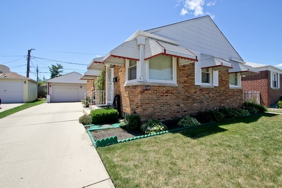 Front View photograph of 7337 W Gregory Chicago Illinois 60656