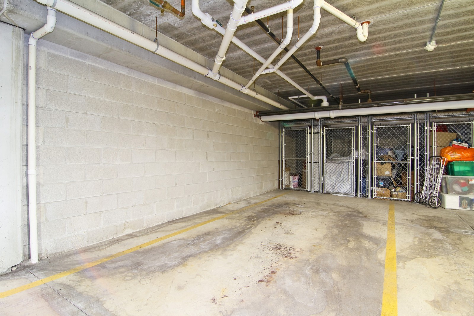 Real Estate Photography - 930 Curtiss, Unit 109, Downers Grove, IL, 60515 - Garage