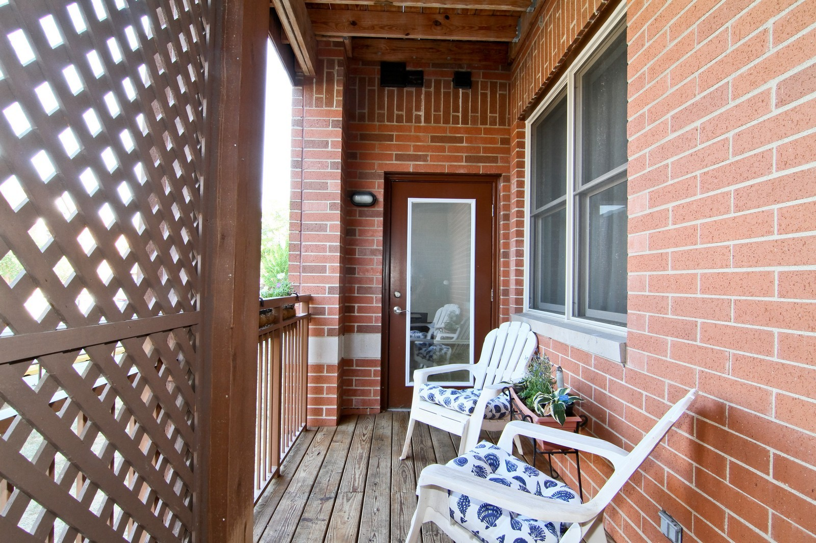 Real Estate Photography - 930 Curtiss, Unit 109, Downers Grove, IL, 60515 - Porch