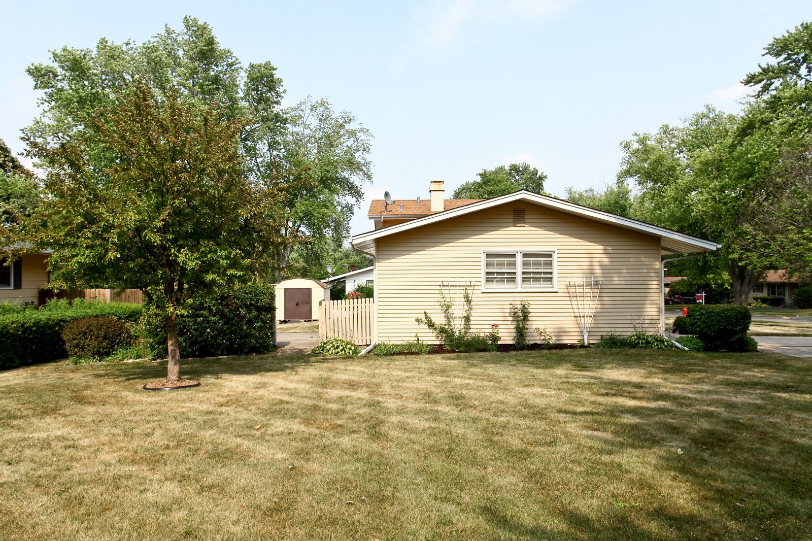 Real Estate Photography - 1620 Oak, St Charles, IL, 60174 - Side Yard