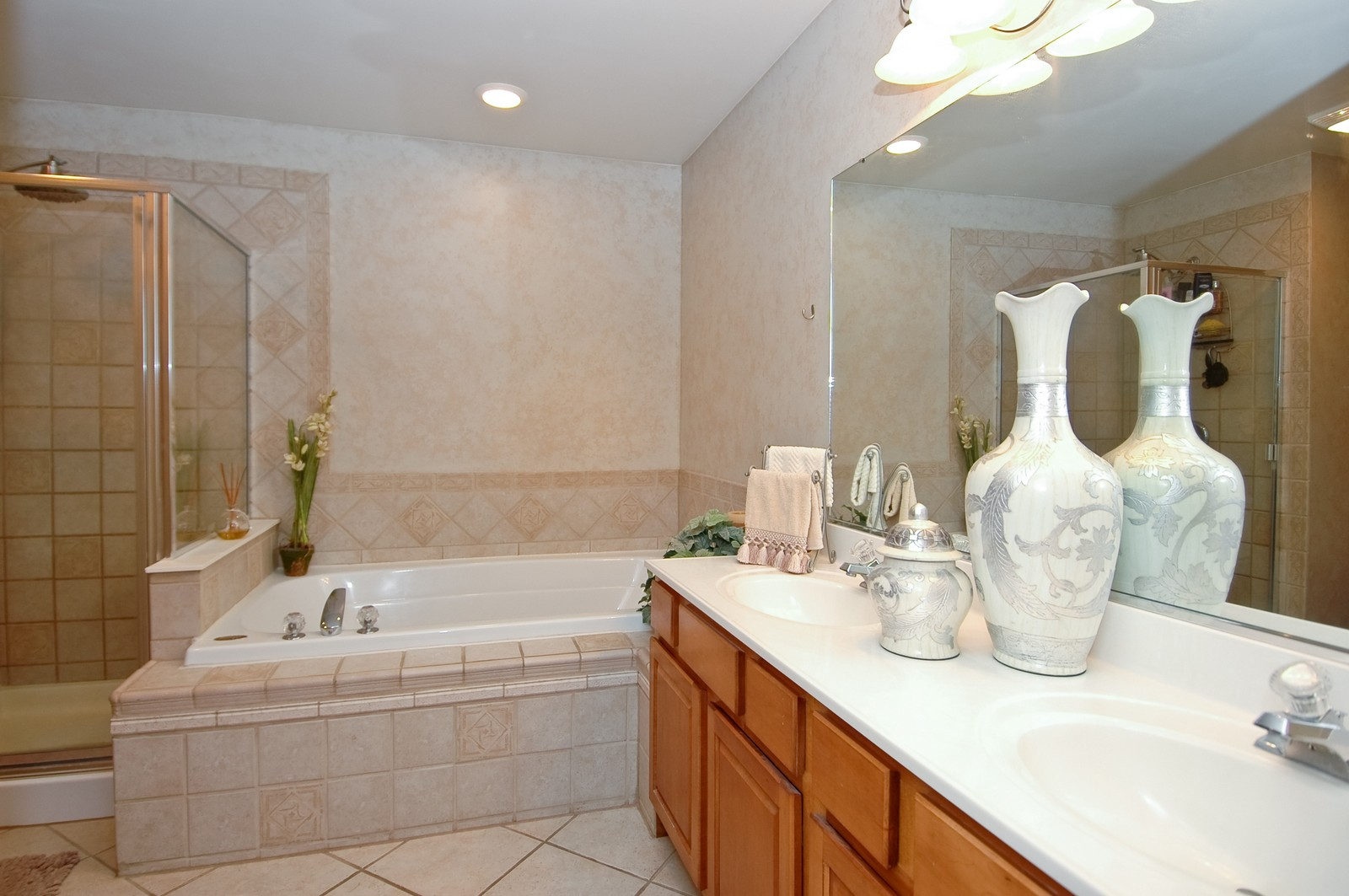 Real Estate Photography - 3440 Red Barn, Wonder Lake, IL, 60097 - Master Bathroom