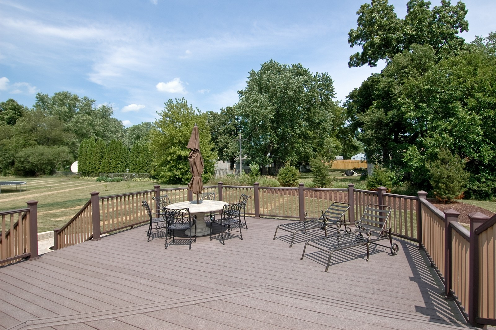 Real Estate Photography - 3440 Red Barn, Wonder Lake, IL, 60097 - Deck