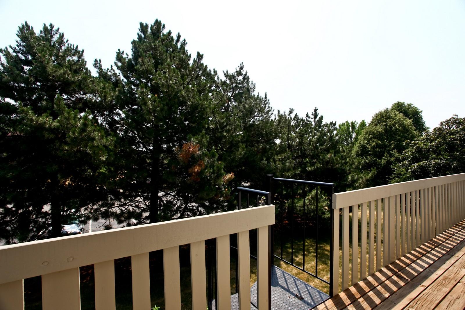 Real Estate Photography - 114 Millington, Unit 114, Saint Charles, IL, 60174 - Deck