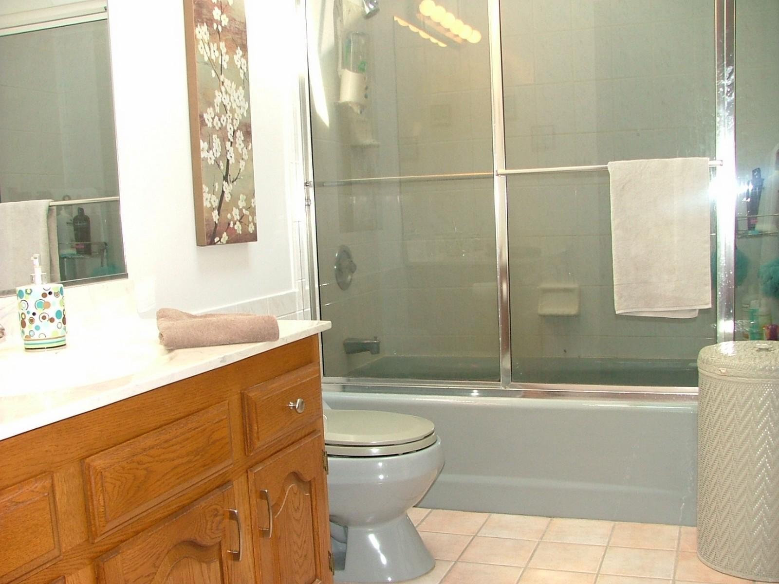 Real Estate Photography - 37W786 McKee St, Batavia, IL, 60510 - 2nd floor hall bathroom