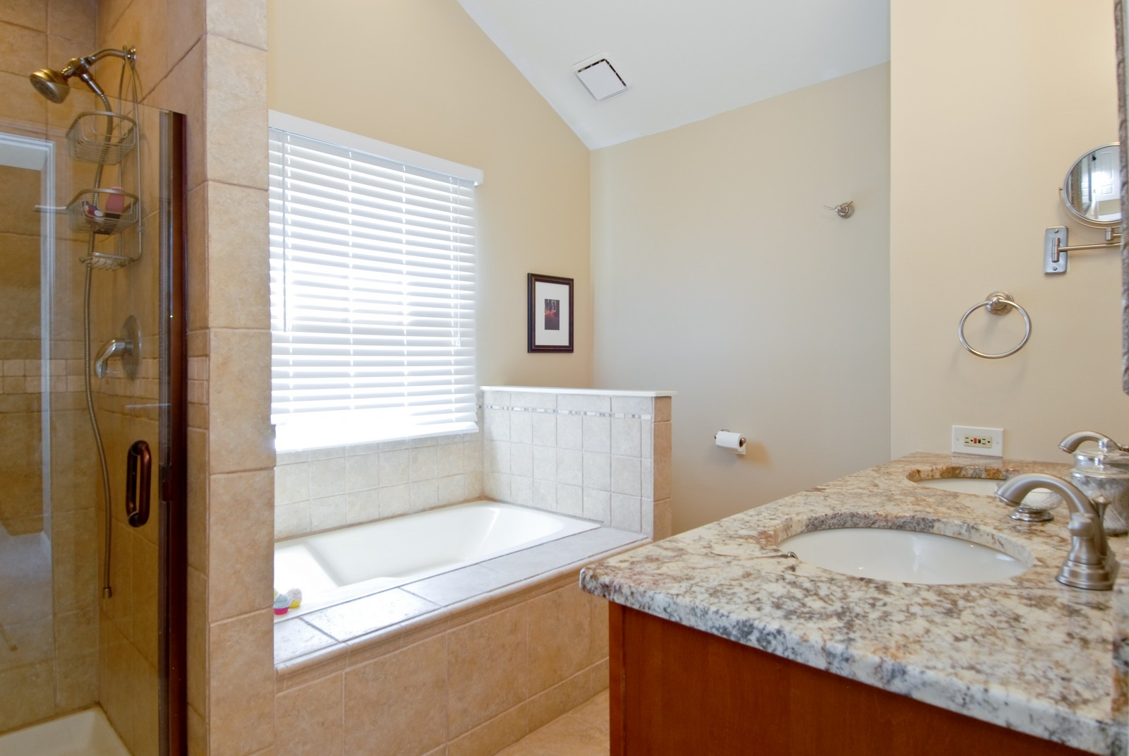 Real Estate Photography - 1222 Rhodes Ln, Naperville, IL, 60540 - Master Bathroom
