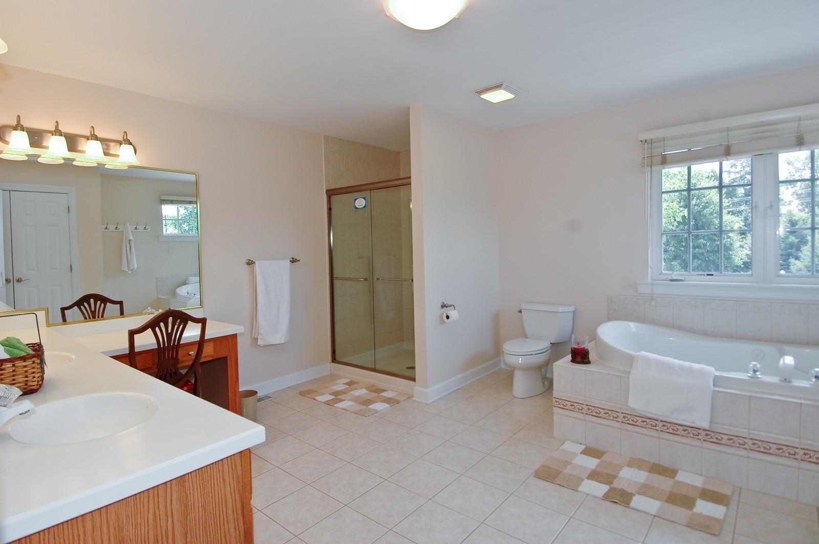 Real Estate Photography - 4215 Alex, Crystal Lake, IL, 60014 - Master Bathroom