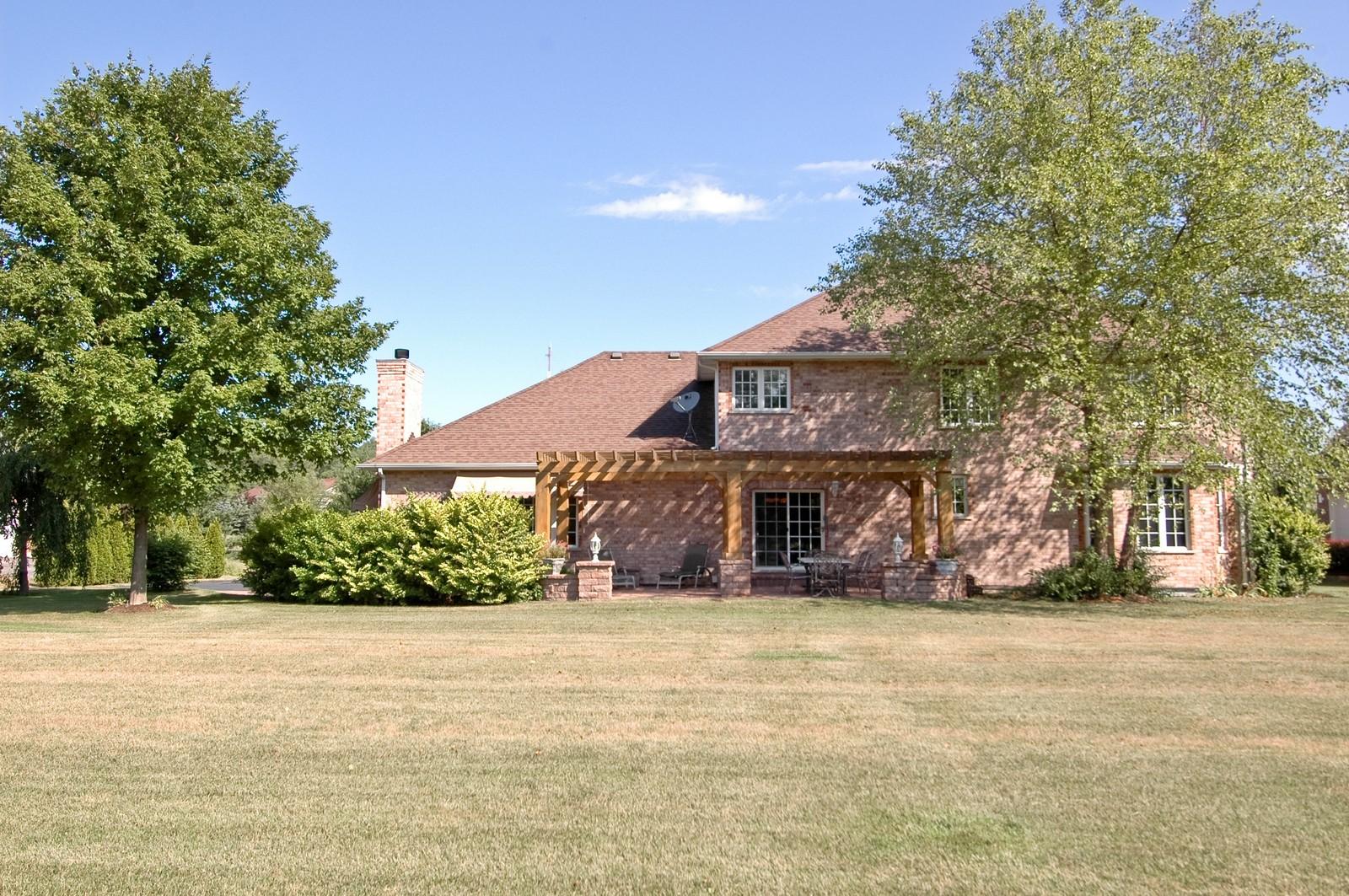 Real Estate Photography - 4215 Alex, Crystal Lake, IL, 60014 - Rear View