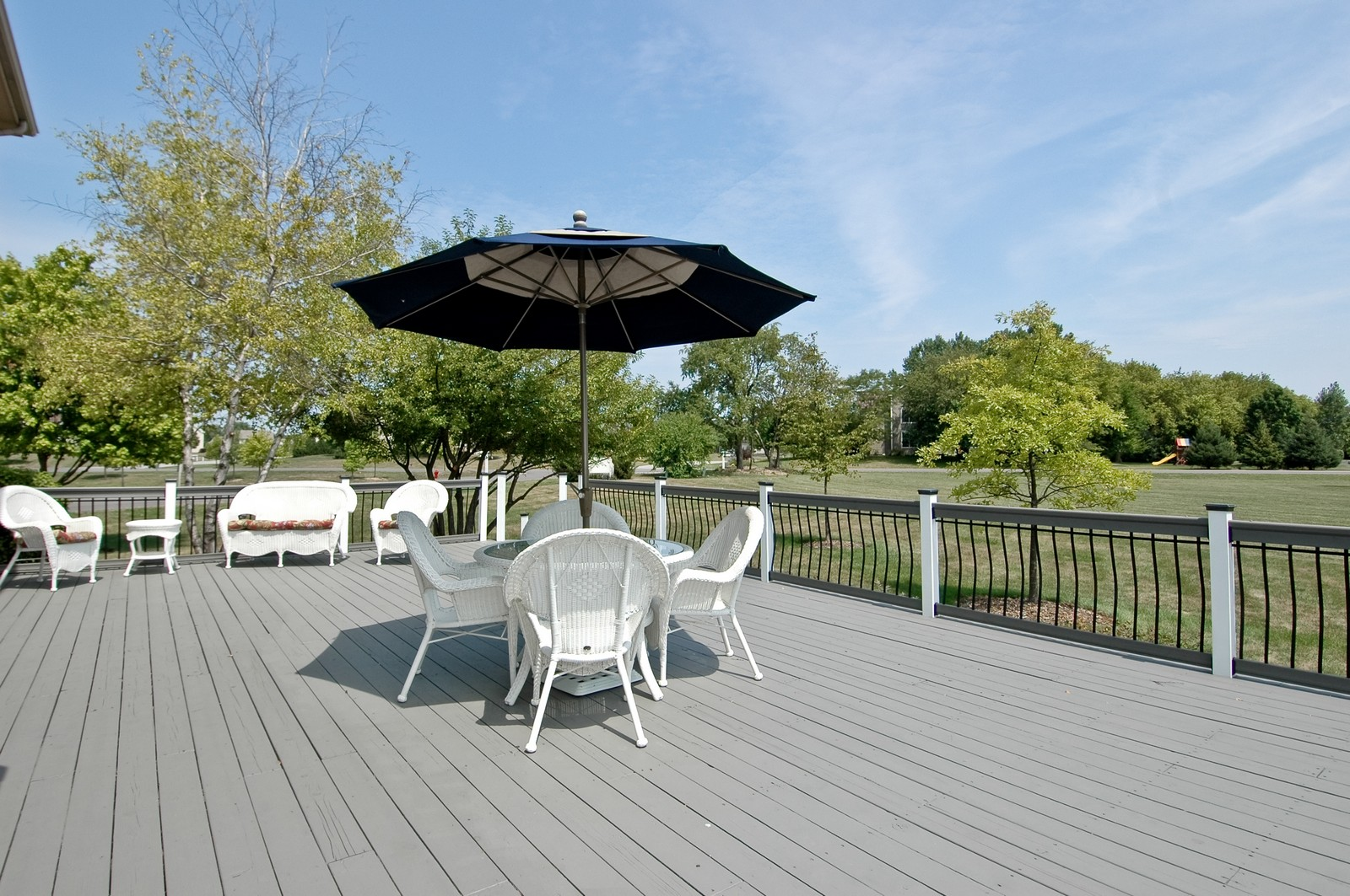Real Estate Photography - 9015 Loch Glen Dr, Lakewood, IL, 60014 - Deck