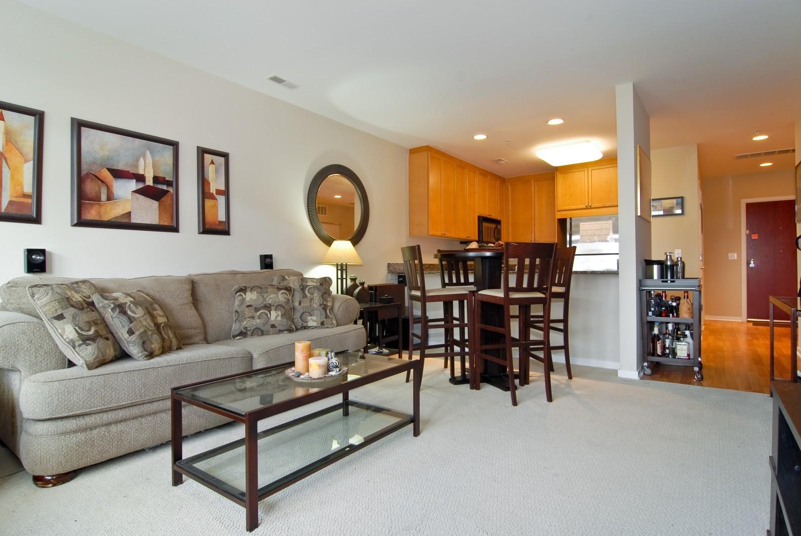 Real Estate Photography - 125 Euclid Ave, Unit 407, Oak Park, IL, 60301 - Living Room
