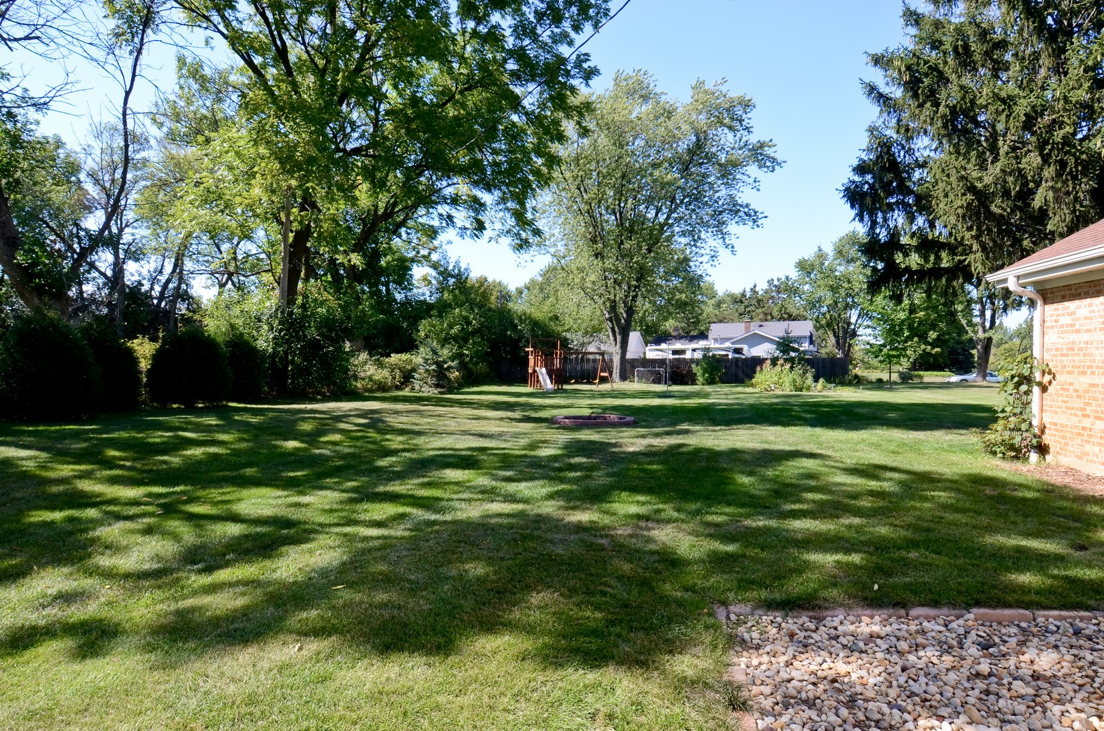 Real Estate Photography - 4N656 Klein Rd, West Chicago, IL, 60185 - Back Yard