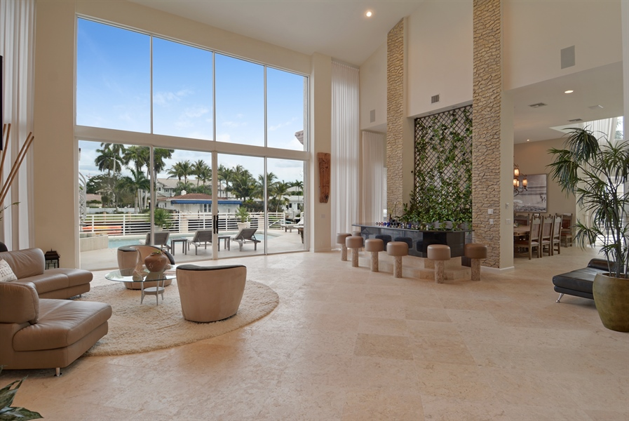 Real Estate Photography - 600 Isle of Palms Dr, Fort Lauderdale, FL, 33301 - Living Room