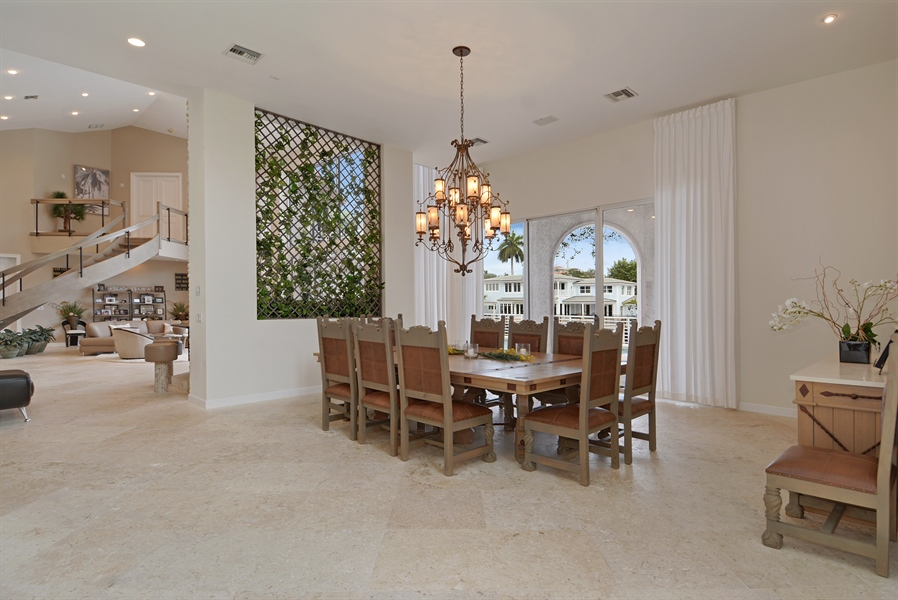 Real Estate Photography - 600 Isle of Palms Dr, Fort Lauderdale, FL, 33301 - Dining Room