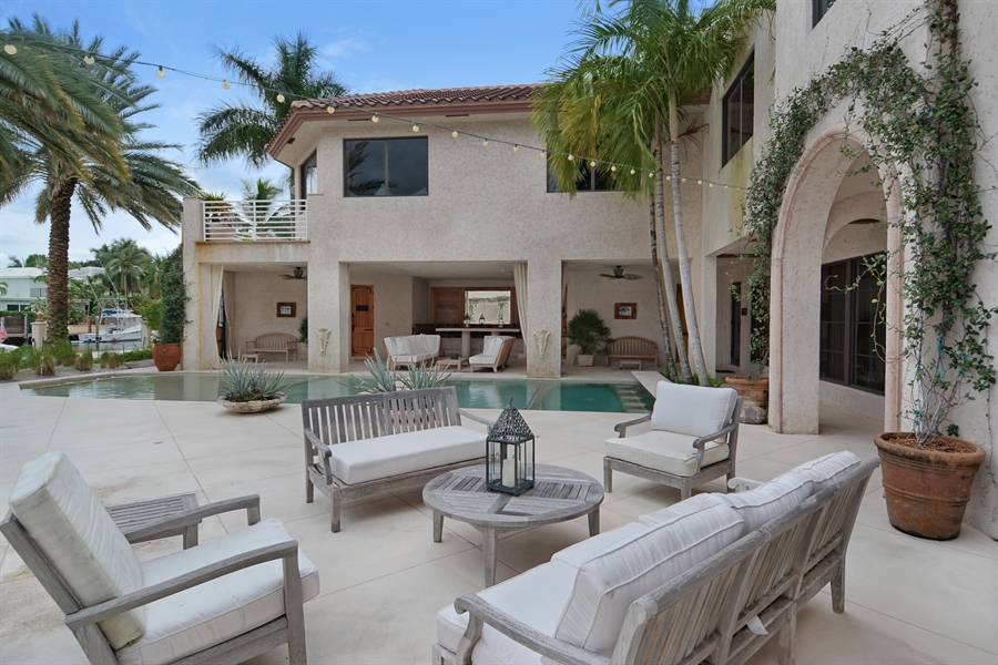 Real Estate Photography - 600 Isle of Palms Dr, Fort Lauderdale, FL, 33301 - Patio