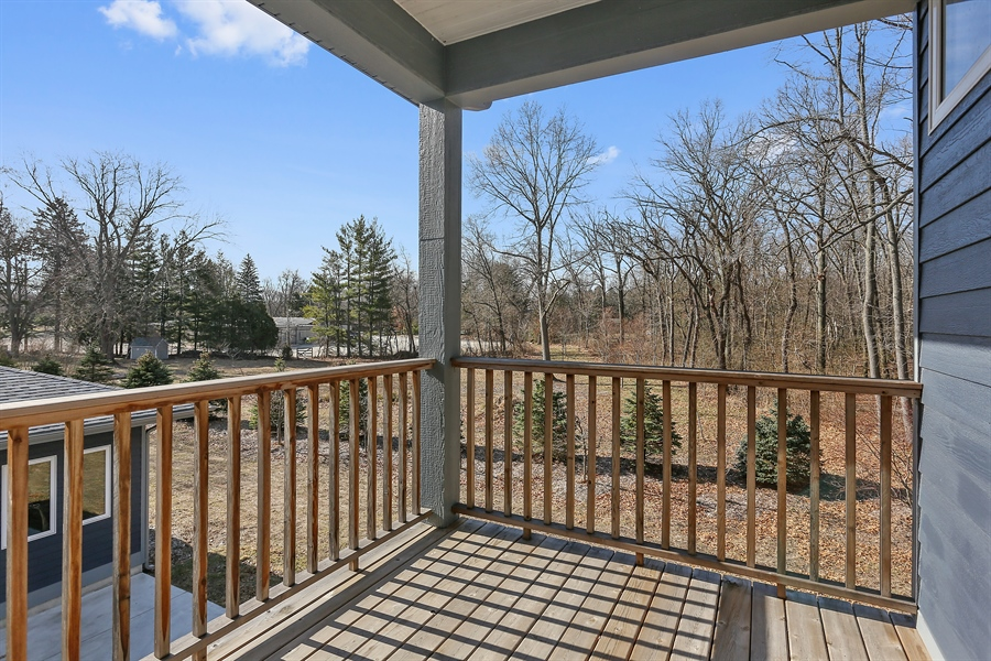 Real Estate Photography - 16670 Lakeshore Road, Union Pier, MI, 49129 - Balcony