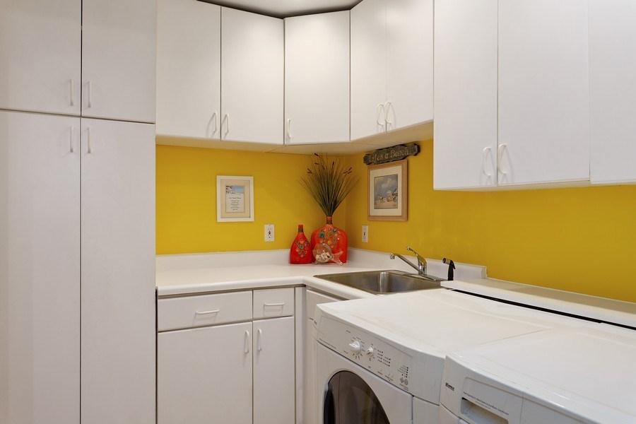 Real Estate Photography - 222 Groveland Trail, Michigan City, IN, 46360 - Laundry Room