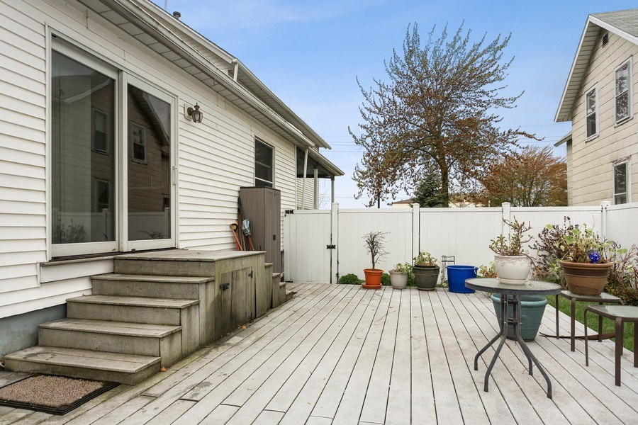 Real Estate Photography - 516 Wabash Street, Michigan City, IN, 46360 - Deck
