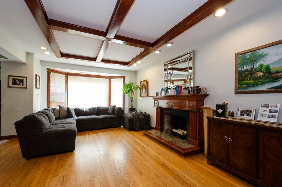 Real Estate Photography - 2938 Pratt, Chicago, IL, 60647 - Living Room