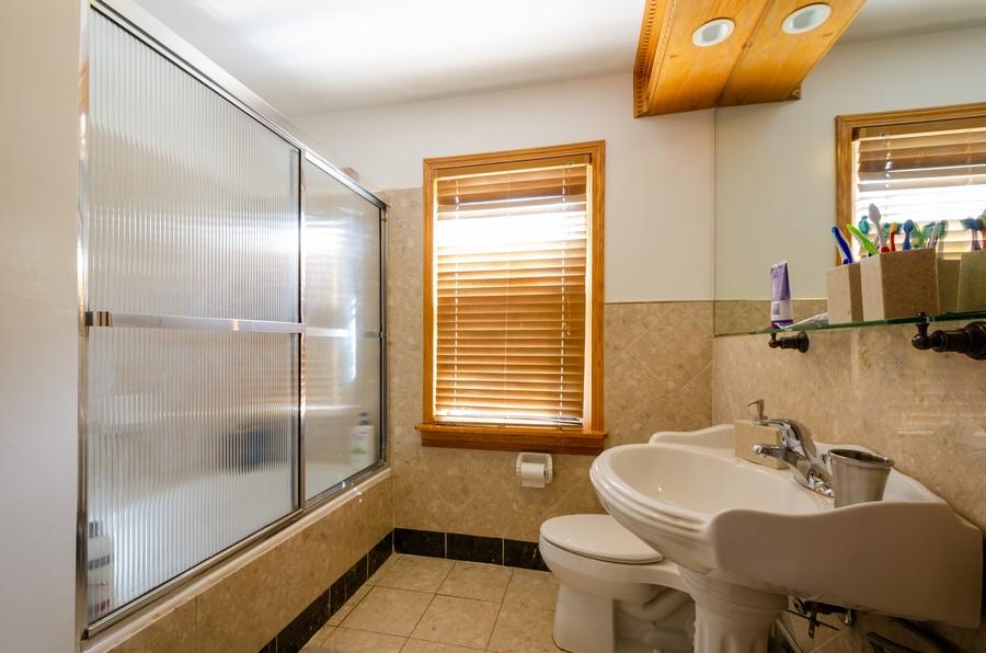 Real Estate Photography - 2938 Pratt, Chicago, IL, 60647 - Bathroom