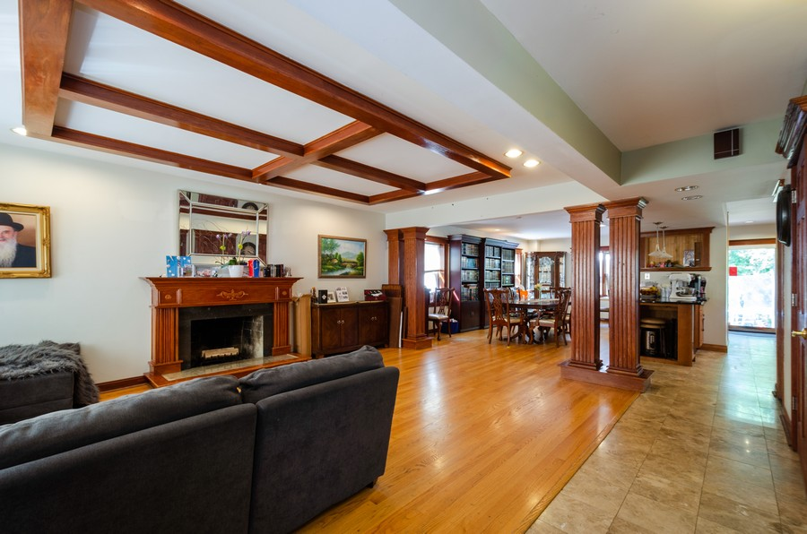 Real Estate Photography - 2938 Pratt, Chicago, IL, 60647 - Living Room / Dining Room