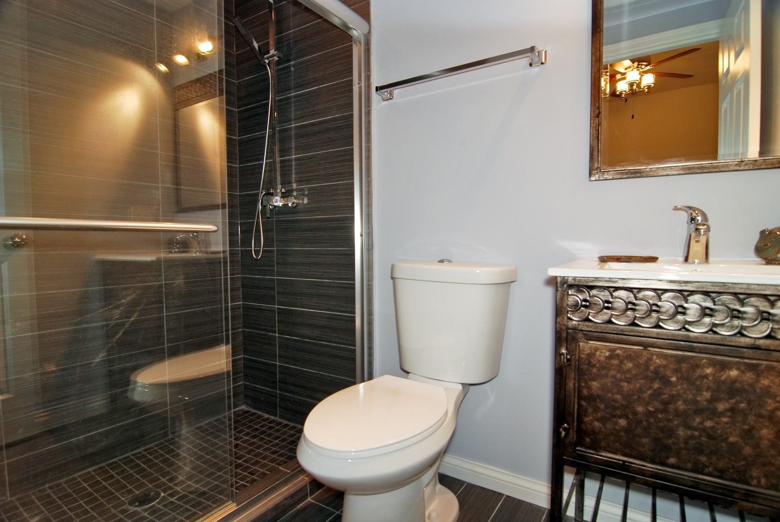 Real Estate Photography - 2805 N 75th Ct, Unit 1B, Elmwood Park, IL, 60707 - Master Bathroom