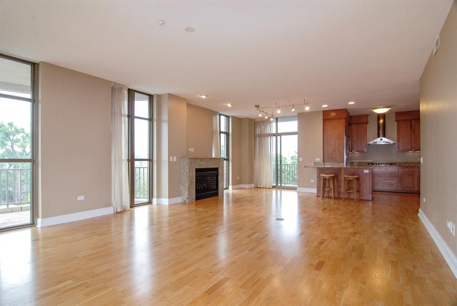 Real Estate Photography - 520 S Washington, Unit 501, Naperville, IL, 60540 - Living Room