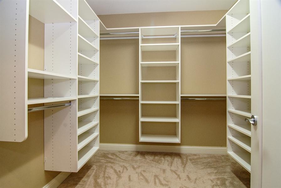 Real Estate Photography - 520 S Washington, Unit 501, Naperville, IL, 60540 - Master Bedroom Closet