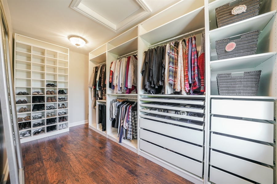 Real Estate Photography - 29 Tartan Lakes Way, Westmont, IL, 60559 - Master Bedroom Closet
