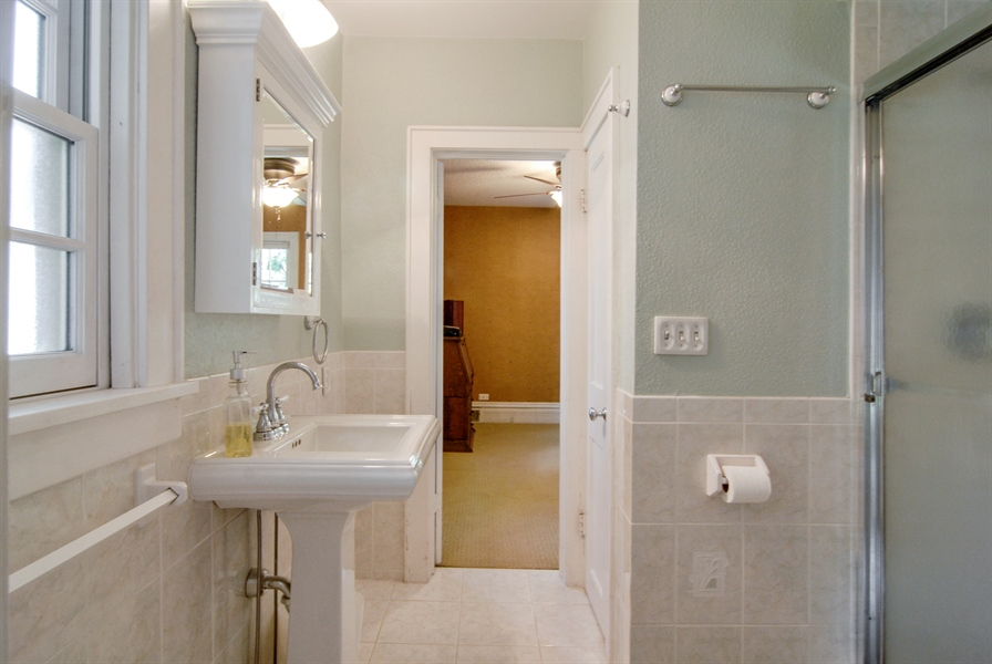 Real Estate Photography - 545 W Downer Place, Aurora, IL, 60506 - 2nd Bathroom