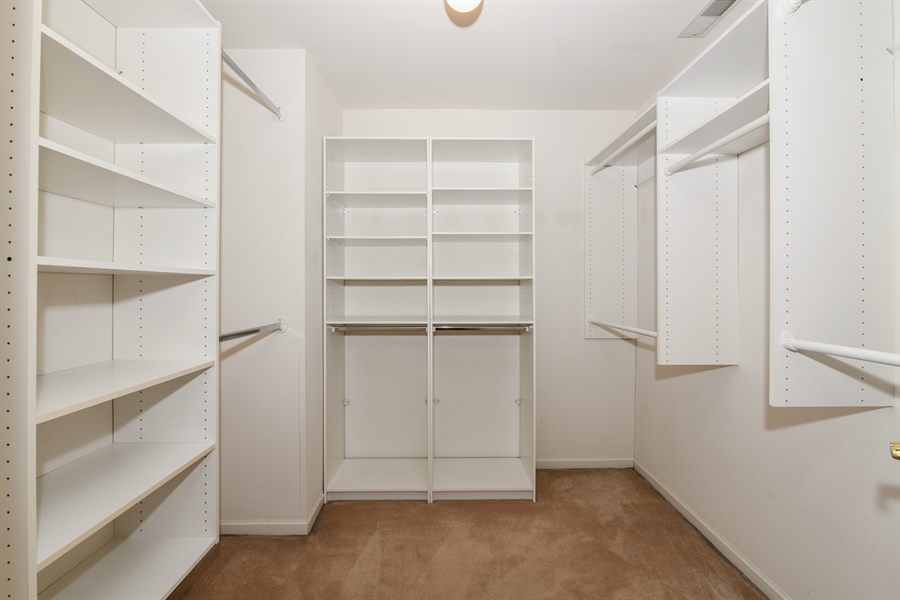 Real Estate Photography - 544 Harlowe Ln, 544, Naperville, IL, 60565 - Master Bedroom Closet