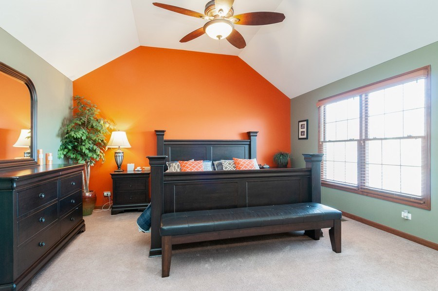 Real Estate Photography - 26112 W. Chatham Dr., Plainfield, IL, 60585 - Master Bedroom