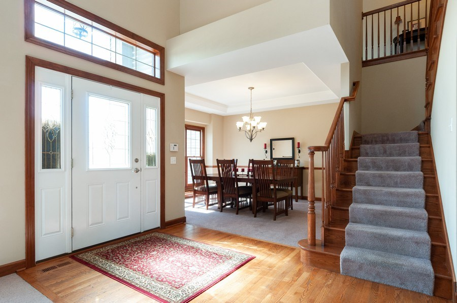 Real Estate Photography - 26112 W. Chatham Dr., Plainfield, IL, 60585 - Foyer/Dining Room