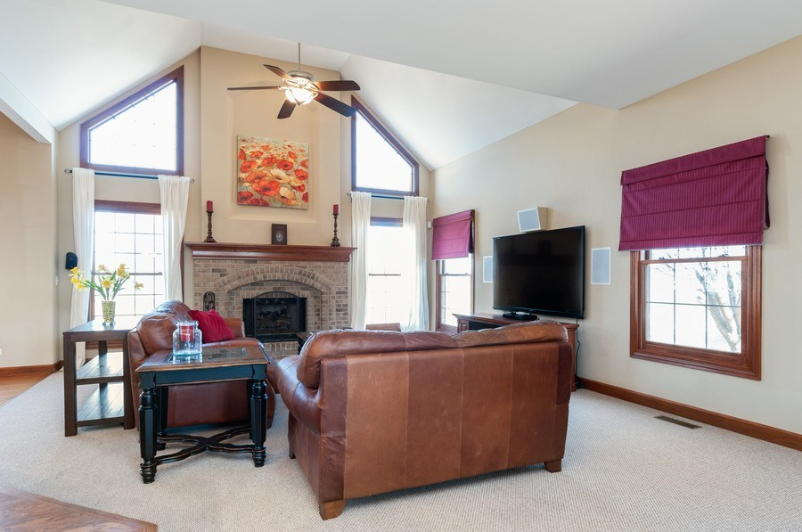 Real Estate Photography - 26112 W. Chatham Dr., Plainfield, IL, 60585 - Family Room