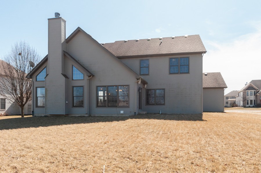 Real Estate Photography - 26112 W. Chatham Dr., Plainfield, IL, 60585 - Rear View