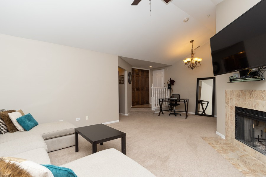 Real Estate Photography - 986 West Ct, Naperville, IL, 60563 - Family Room / Dining Room