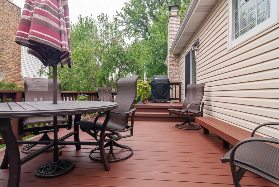 Real Estate Photography - 2210 Kingston, Wheaton, IL, 60189 - Deck