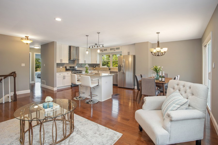 Real Estate Photography - 281 Byron Ave, Bloomingdale, IL, 60108 - Kitchen / Living Room