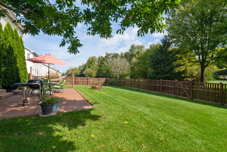 Real Estate Photography - 2958 Ellsworth Dr, Yorkville, IL, 60560 - Back Yard