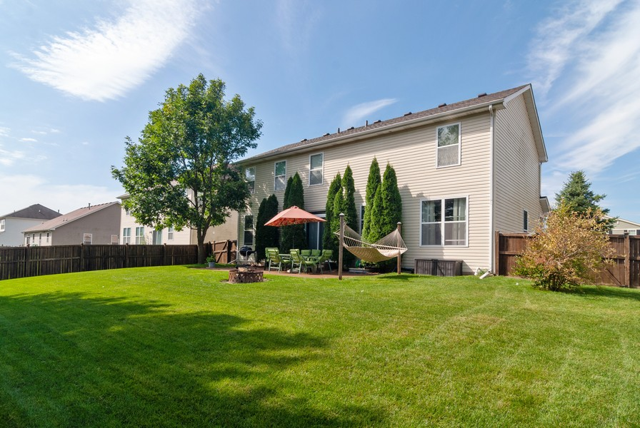 Real Estate Photography - 2958 Ellsworth Dr, Yorkville, IL, 60560 - Rear View