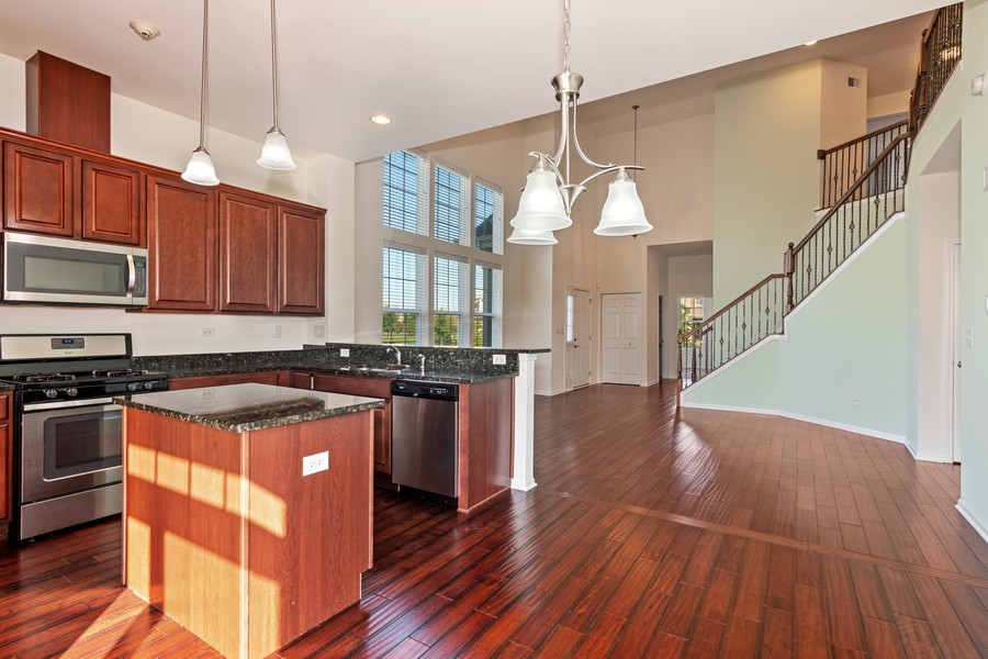 Real Estate Photography - 2720 Blakely Lane, Naperville, IL, 60540 - Family Room / Kitchen