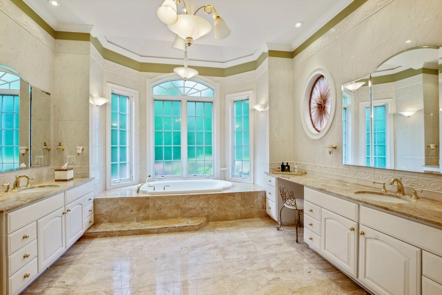 Real Estate Photography - 1048 Gambelli Dr, Yorktown Heights, NY, 10598 - Master Bathroom with  his/her marble vanities