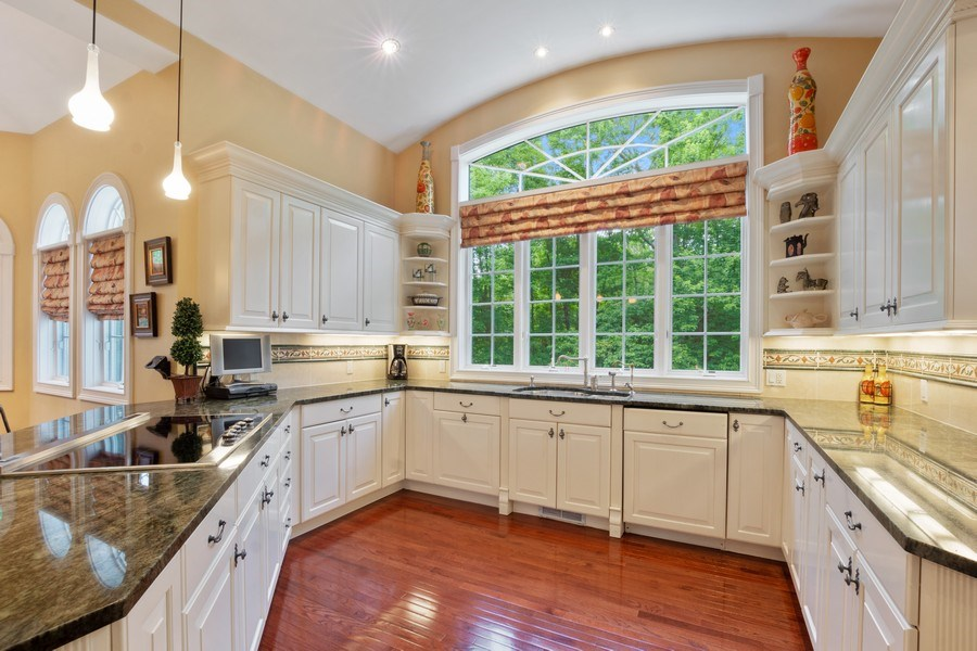 Real Estate Photography - 1048 Gambelli Dr, Yorktown Heights, NY, 10598 - Kitchen with window wall and barrel ceiling
