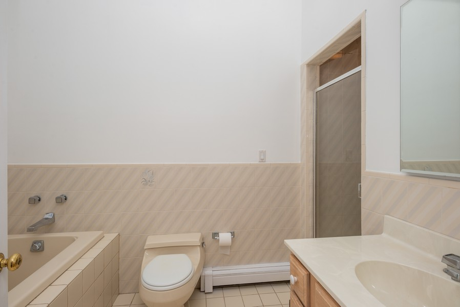 Real Estate Photography - 12 Abbey Dr, White Plains, NY, 10604 - Master Bathroom