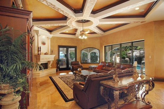 Real Estate Photography - 3755 Mullenhurst Dr, Palm Harbor, FL, 34685 - Incomparable detail defines this Family Room