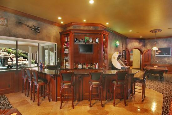 Real Estate Photography - 3755 Mullenhurst Dr, Palm Harbor, FL, 34685 - Entertainment Center w/Full Bar