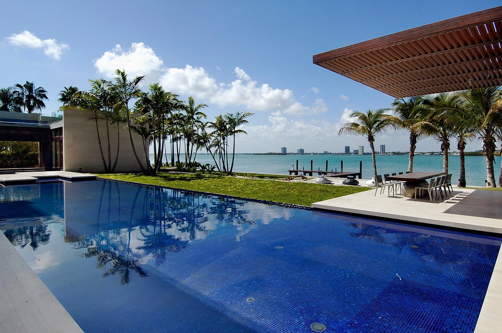 Real Estate Photography - 3 Indian Creek Island Dr, Miami Beach, FL, 33154 - Back Yard